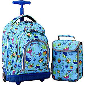 Школьный рюкзак на колесах JWORLD LOLLIPOP цвет Джунгли