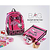 Школьный ранец-рюкзак Sanrio Hello Kitty BP91007 (0-3 класс, 15 литр) + сумка для сменной обуви