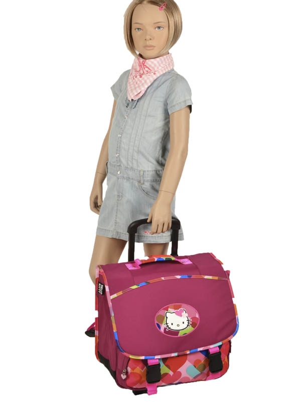 Школьный портфель на колесах Hello Kitty арт. HPS23070R, - фото 5