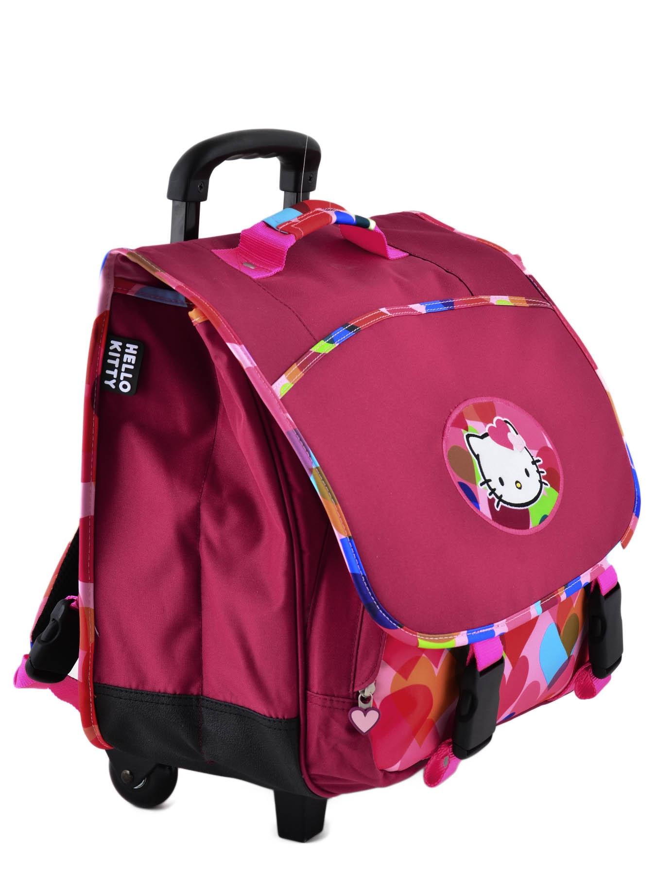 Школьный портфель на колесах Hello Kitty арт. HPS23070R, - фото 4