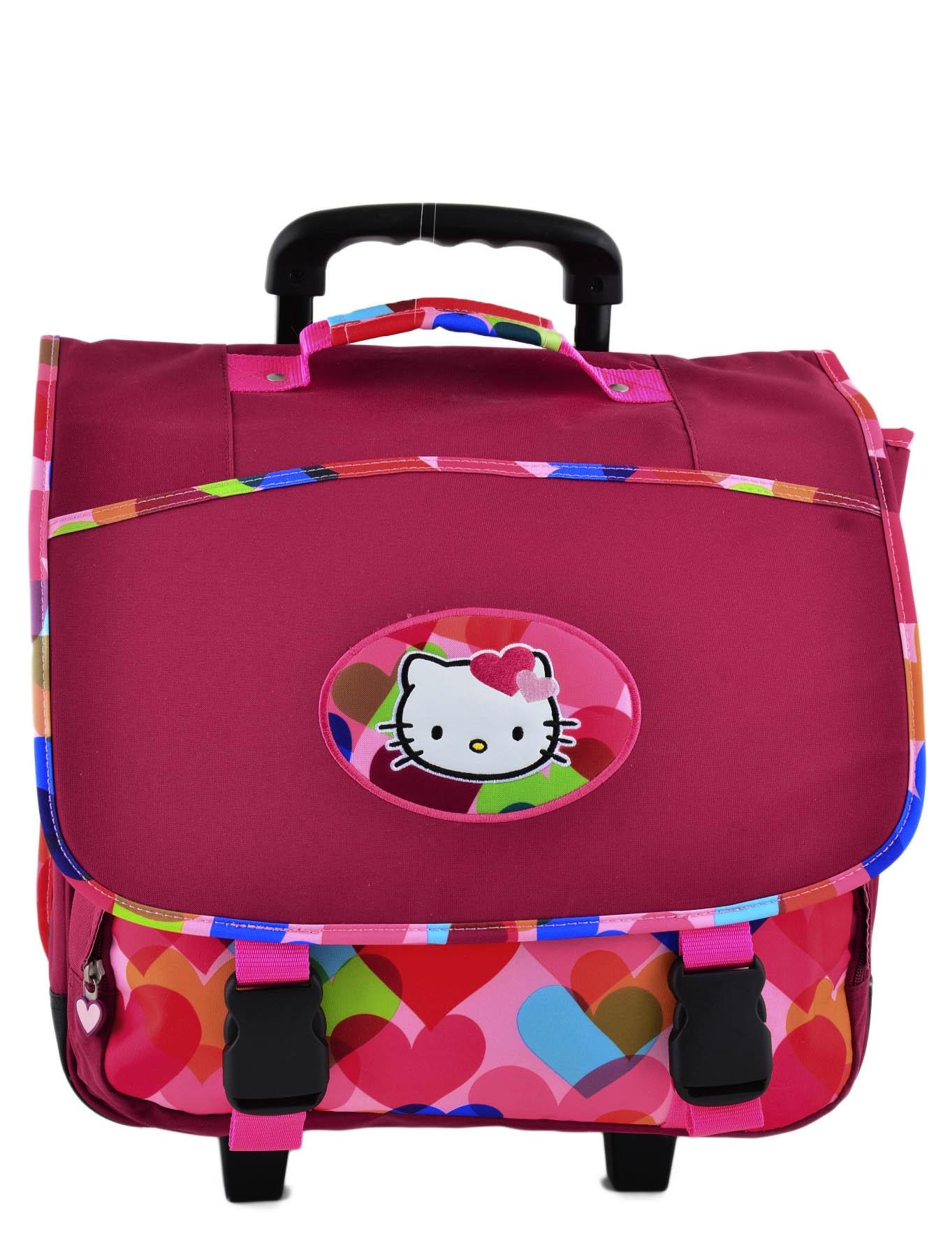 Школьный портфель на колесах Hello Kitty арт. HPS23070R, - фото 2