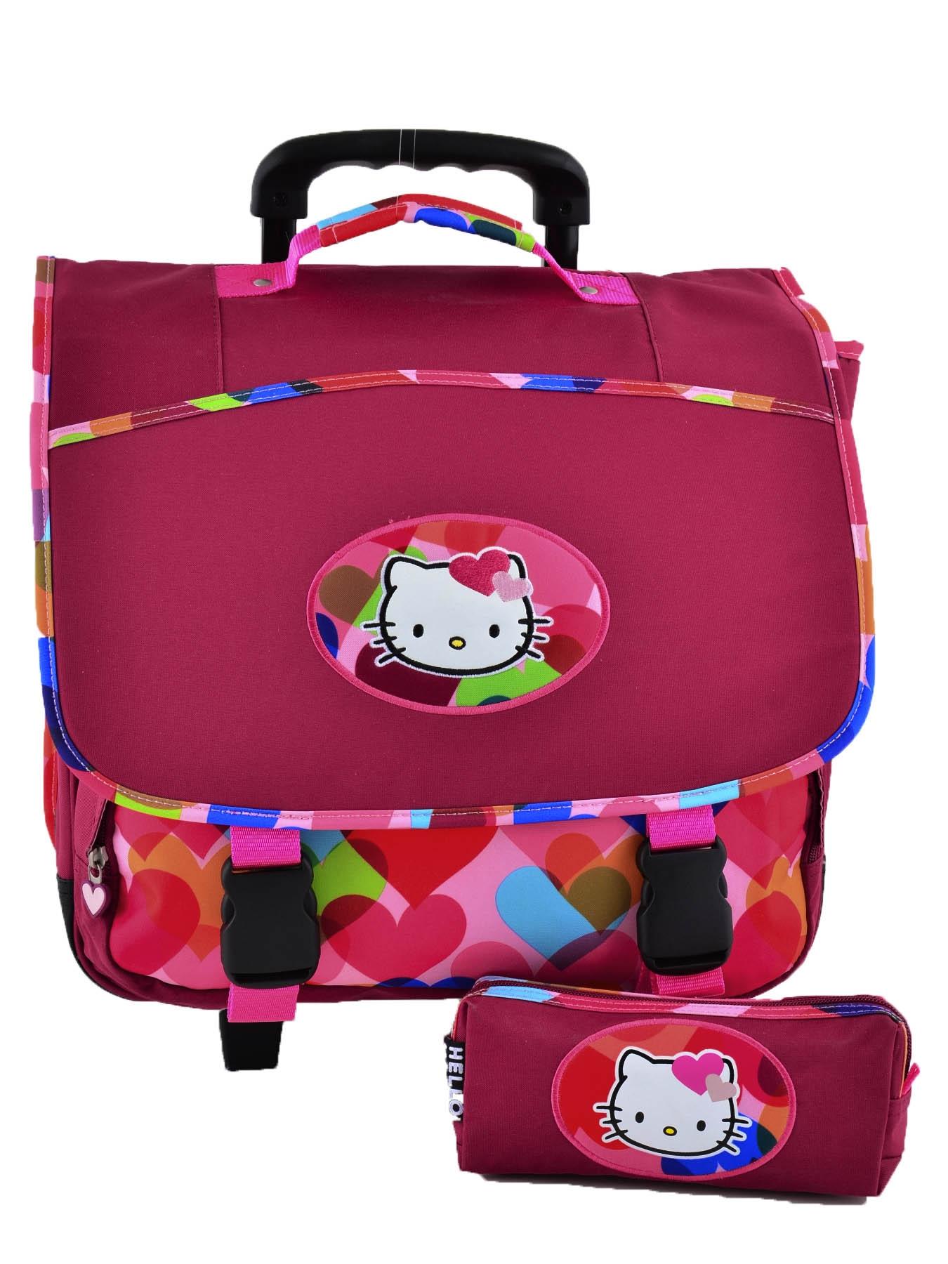 Школьный портфель на колесах Hello Kitty арт. HPS23070R, - фото 1