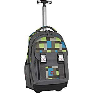 Школьный рюкзак на колесах Take It Easy Madrid Квадрат II + дождевик
