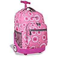 Универсальный школьный рюкзак на колесах JWORLD Sunrise арт. RBS18 Pink Target