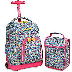 Школьный рюкзак на колесах JWORLD LOLLIPOP цвет Незабудки