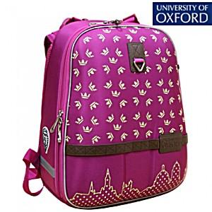 Школьный рюкзак OXFORD 1008-OX-78 Оксфорд Короны малин/желт