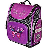 Ранец школьный Hummingbird бабочка фиолетовая с мешком для обуви + пенал