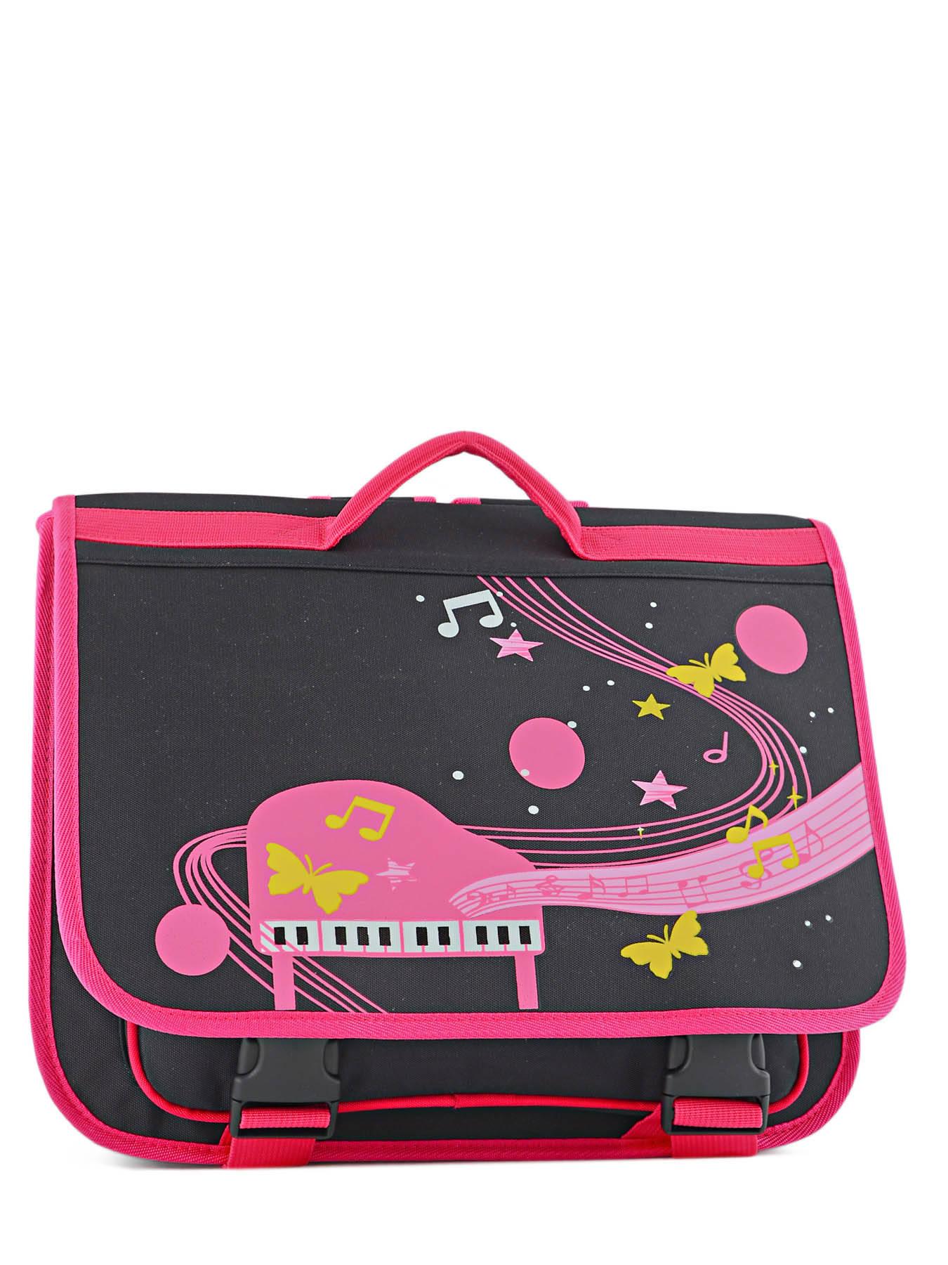 Портфель для музыкальной школы для девочки Розовое Пианино, - фото 1