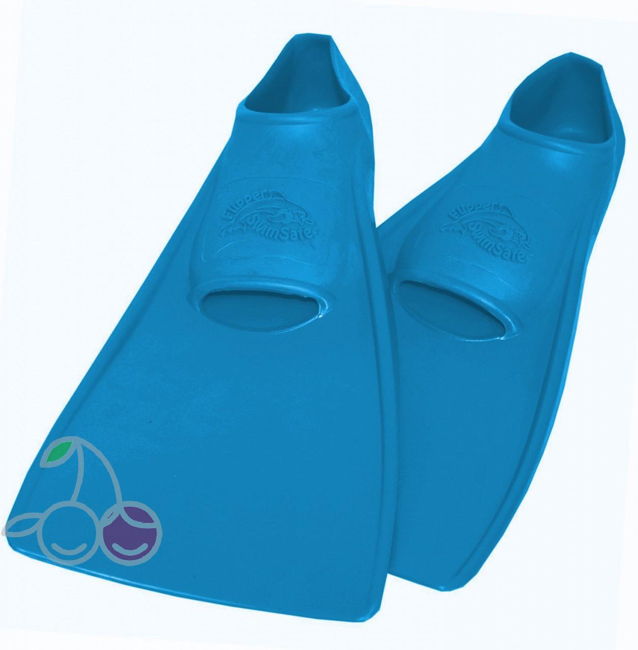 Ласты для бассейна резиновые детские размеры 29-30 синие ПРОПЕРКЭРРИ (ProperCarry), - фото 1